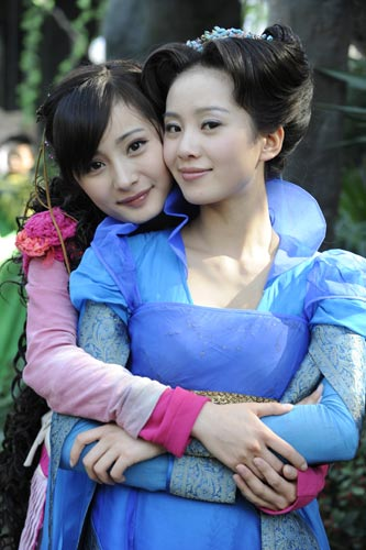"Yang Mi plays the lead female Xue Jian while Liu Shishi plays the split personality Hong Kui and Lan Qui; both are ""in love"" with Jing Tian"