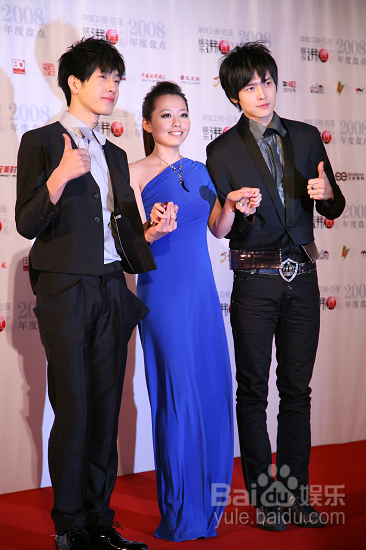 Huayi's Jane Zhang and BOBO at the recent Baidu Awards, where they took away a combined number of five awards