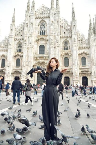 Jane Zhang in Milan for MTV EMAs